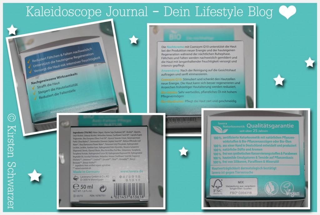 Erfahrungsbericht über die Basis Sensitiv Anti-Falten Nachtcreme von lavera, www.kaleidoscope-journal.de, Kirsten Schwarzer