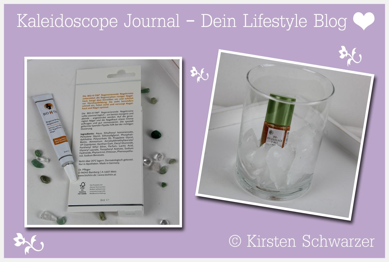 Der BB-Pflegelack 2 in 1 von alverde und die Regenerierende Nagelcreme von BIO-H-TIN, www.kaleidoscope-journal.de, Kirsten Schwarzer
